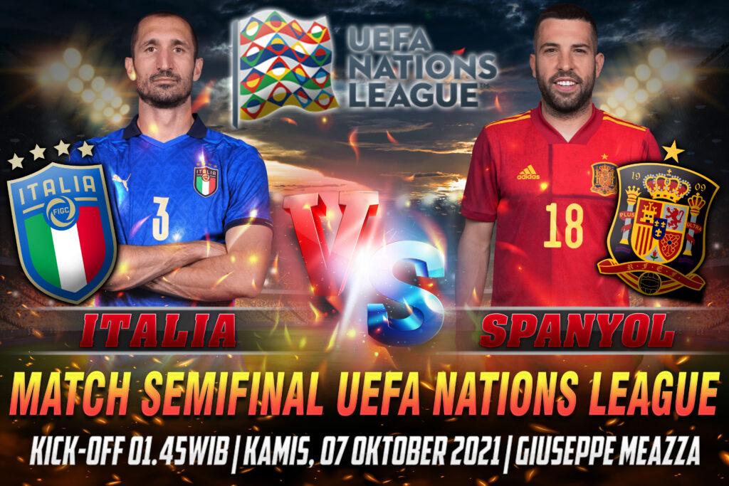 Prediksi Skor Italia vs Spanyol Semifinal UEFA Nations League