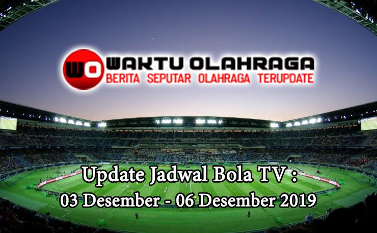 JADWAL WAKTU OLAHRAGA 03 - 06 Desember 2019