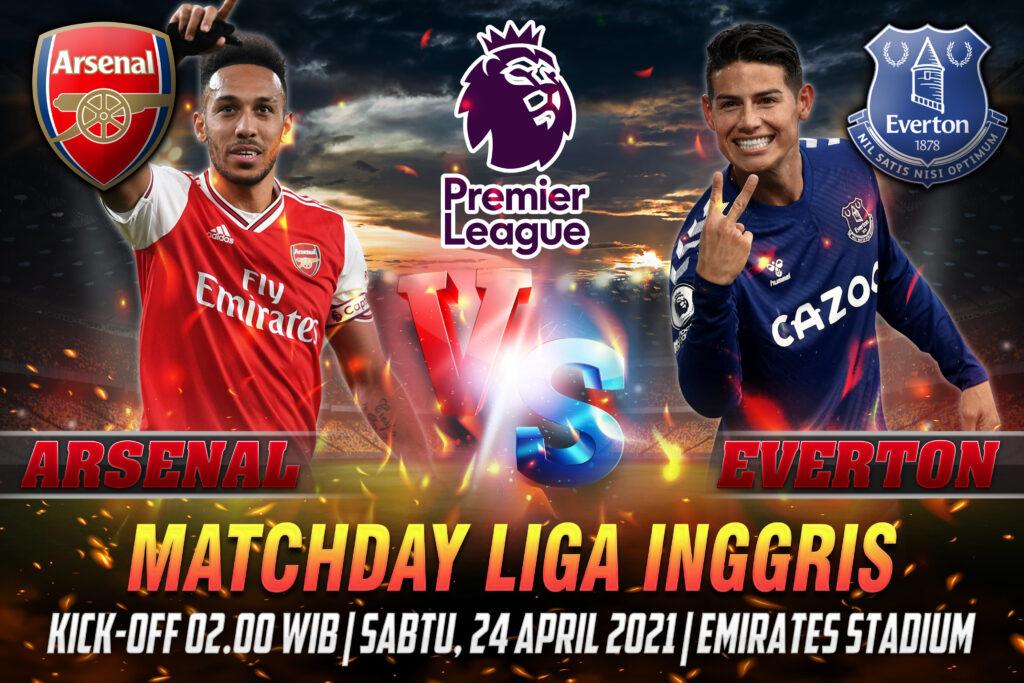 Prediksi Bola Liga Inggris Arsenal vs Everton 24 April 2021