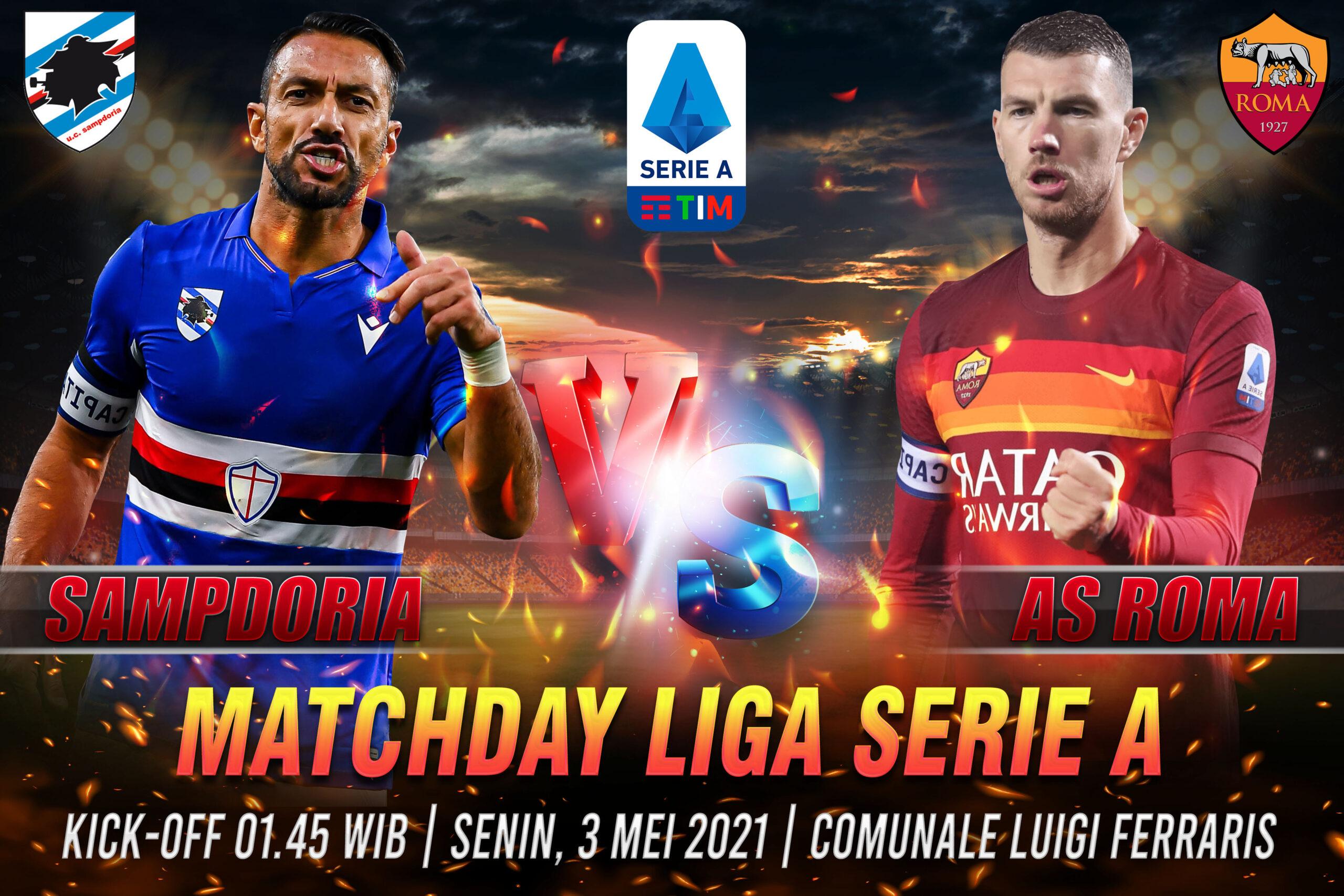 Prediksi Bola Akurat Sampdoria vs AS Roma 3 Mei 2021