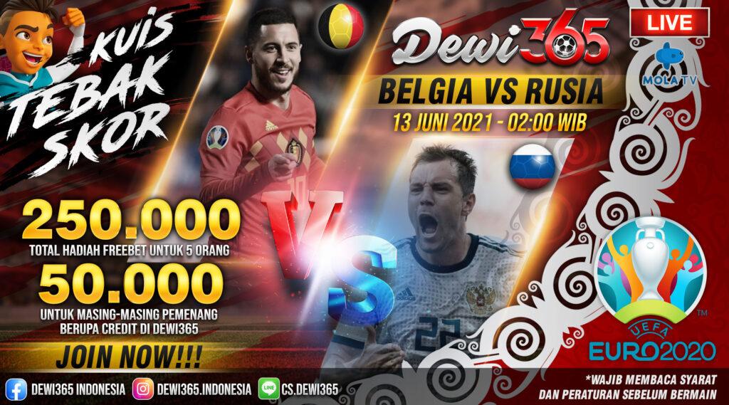 Prediksi Skor Belgia vs Rusia