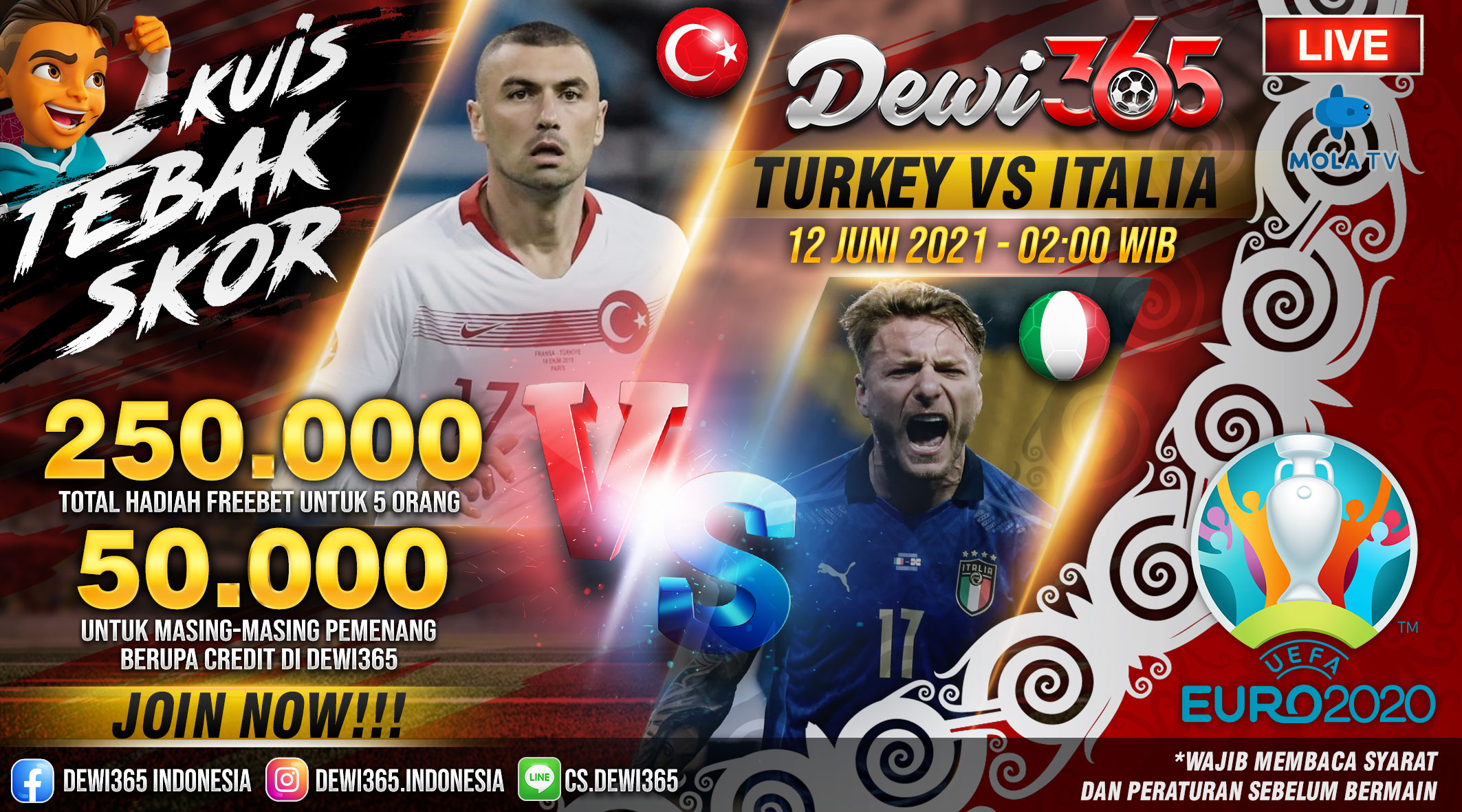 prediksi Turkey vs Italy